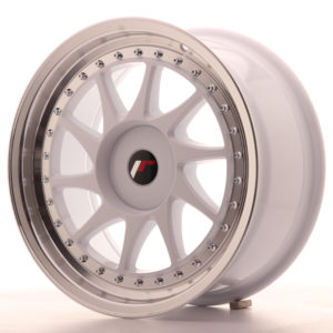 JR Wheels JR26 17x8 ET35 BLANK White w/Machined Lip