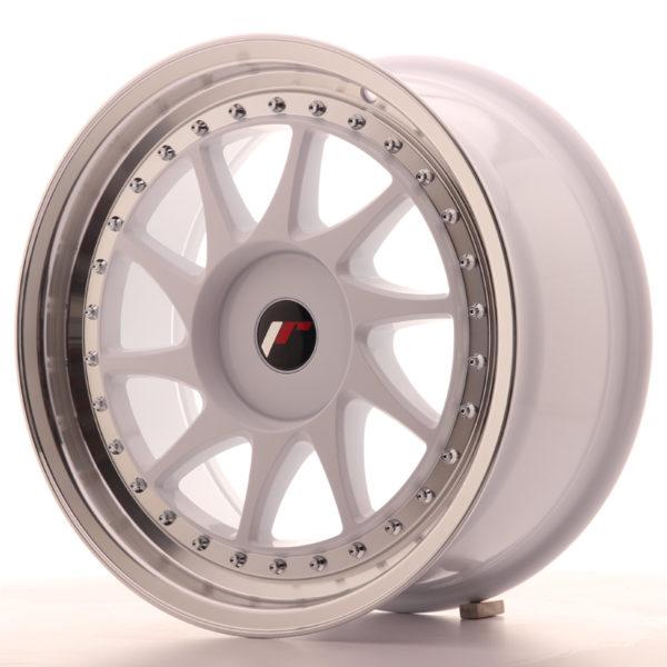 JR Wheels JR26 17x8 ET35 BLANK White w/Machined Lip