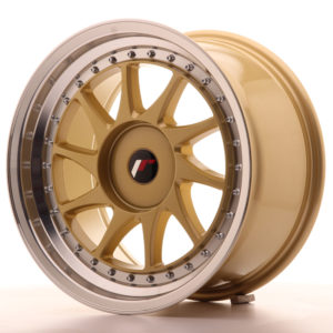 JR Wheels JR26 17x9 ET20-35 BLANK Gold w/Machined Lip