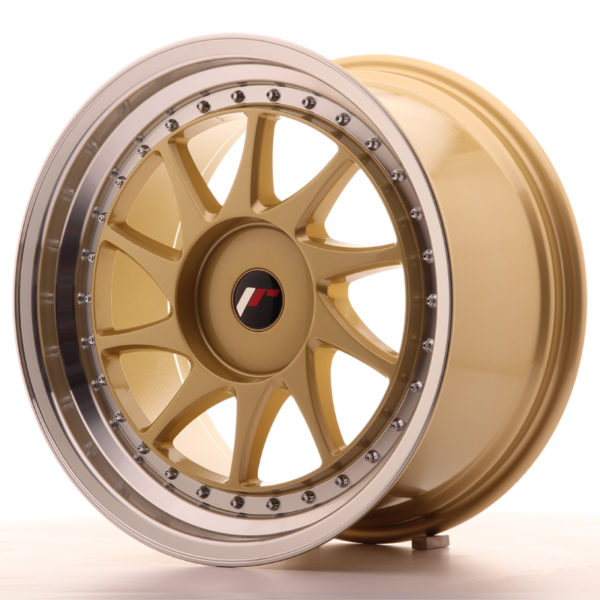 JR Wheels JR26 18x9,5 ET20-40 BLANK Gold w/Machined Lip
