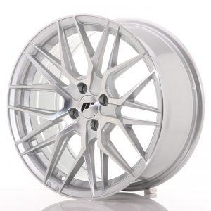 JR Wheels JR28 17x8 ET40 4x100 Silver Machined Face