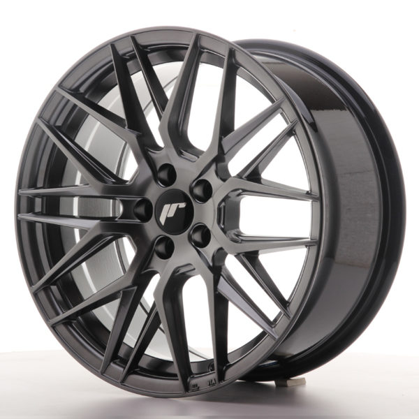 JR Wheels JR28 17x8 ET35 5x100 Hyper Black