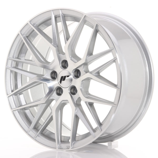 JR Wheels JR28 17x8 ET40 5x112 Silver Machined Face