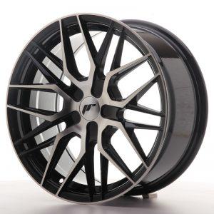 JR Wheels JR28 17x8 ET25-40 BLANK Gloss Black Machined Face