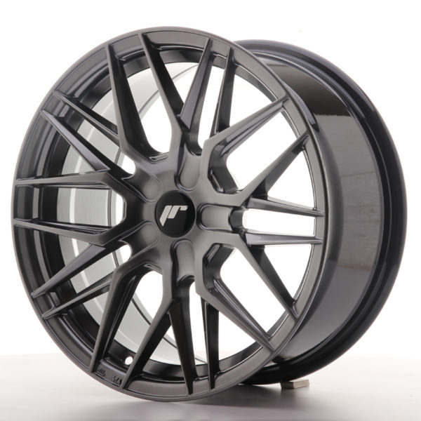 JR Wheels JR28 17x8 ET25-40 BLANK Hyper Black