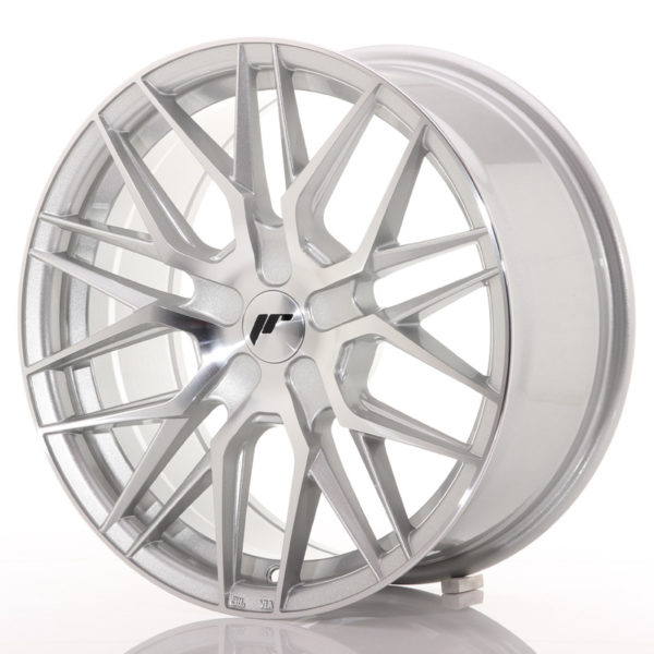JR Wheels JR28 17x8 ET25-40 BLANK Silver Machined Face