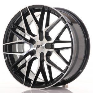 JR Wheels JR28 18x7,5 ET20-40 BLANK Gloss Black Machined Face