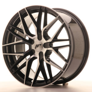 JR Wheels JR28 18x8,5 ET40 5H BLANK Gloss Black Machined Face