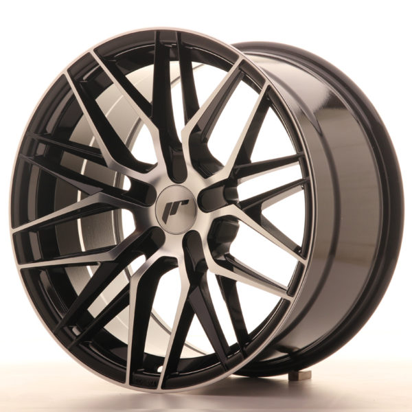 JR Wheels JR28 18x9,5 ET20-40 5H BLANK Gloss Black Machined Face