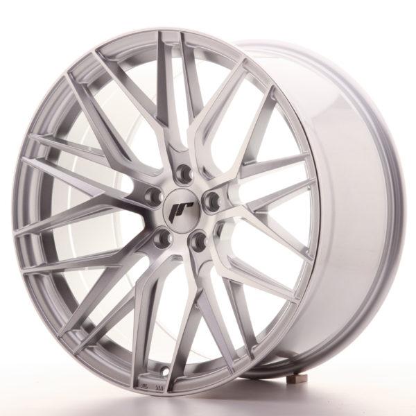 JR Wheels JR28 20x10 ET30 5x120 Silver Machined Face