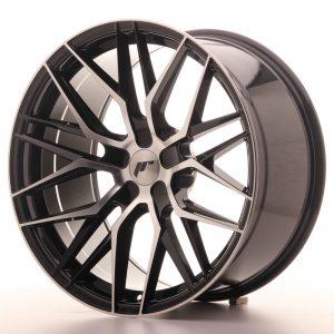 JR Wheels JR28 20x10 ET20-40 5H BLANK Gloss Black Machined Face