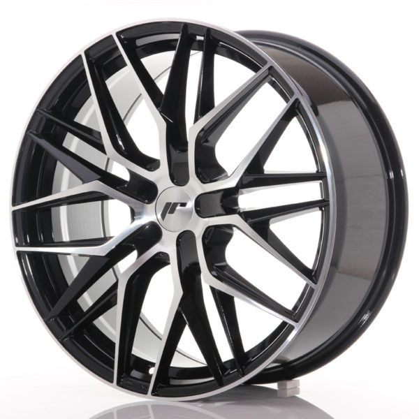 JR Wheels JR28 21x9 ET15-45 5H BLANK Gloss Black Machined Face