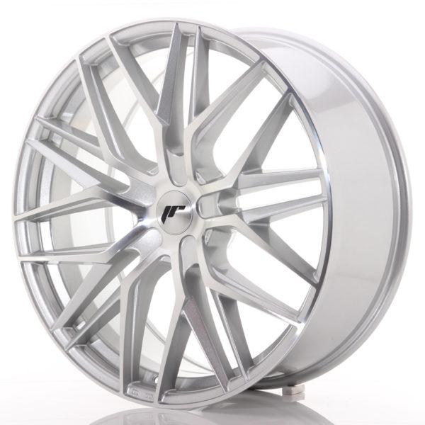 JR Wheels JR28 22x9 ET30-45 5H BLANK Silver Machined Face