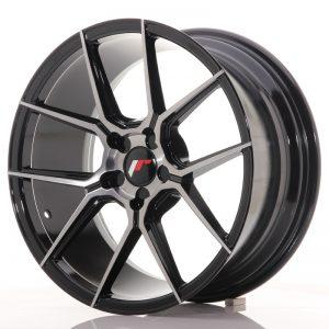 JR Wheels JR30 18x8,5 ET20-40 5H BLANK Black Brushed w/Tinted Face