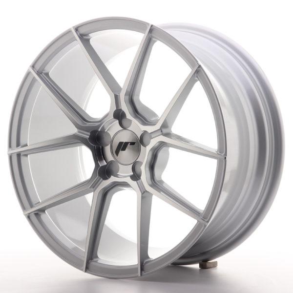 JR Wheels JR30 18x8,5 ET20-40 5H BLANK Silver Machined Face