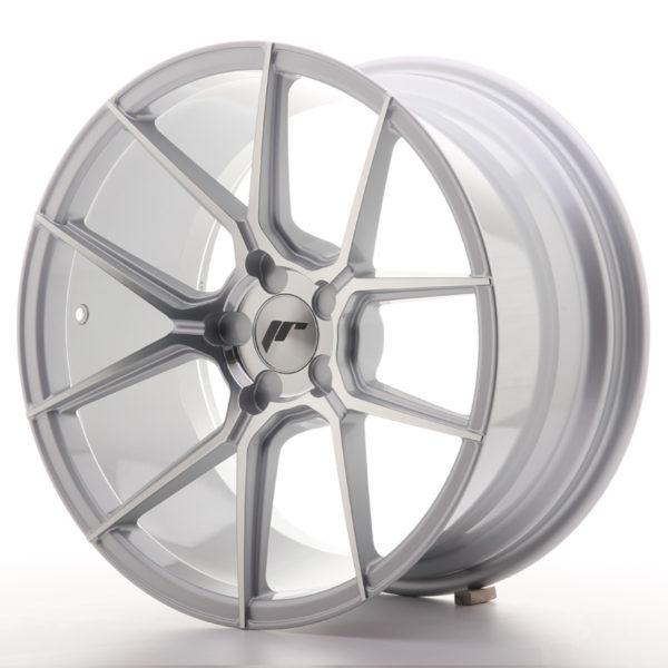 JR Wheels JR30 18x9,5 ET20-40 5H BLANK Silver Machined Face