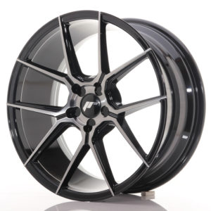 JR Wheels JR30 19x8,5 ET20-43 5H BLANK Black Brushed w/Tinted Face