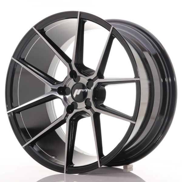 JR Wheels JR30 20x10 ET20-40 5H BLANK Black Brushed w/Tinted Face