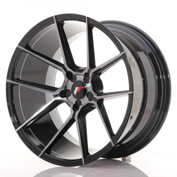 JR Wheels JR30 20x11 ET20-30 5H BLANK Black Brushed w/Tinted Face