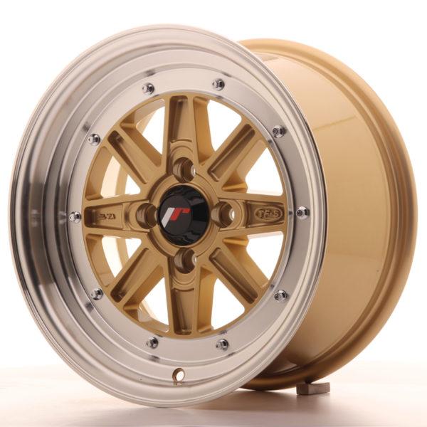 JR Wheels JR31 15x7.5 ET20 4x100 Gold w/Machined Lip