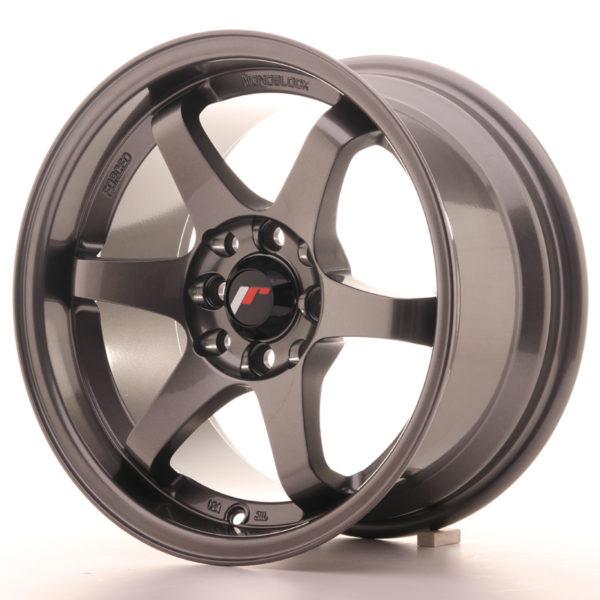 JR Wheels JR3 15x8 ET25 4x100/108 Gun Metal