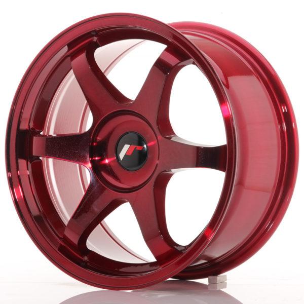 JR Wheels JR3 17x8 ET35 BLANK Platinum Red