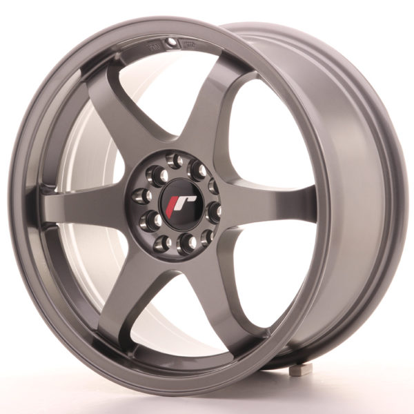 JR Wheels JR3 17x8 ET25 4x100/108 Gun Metal