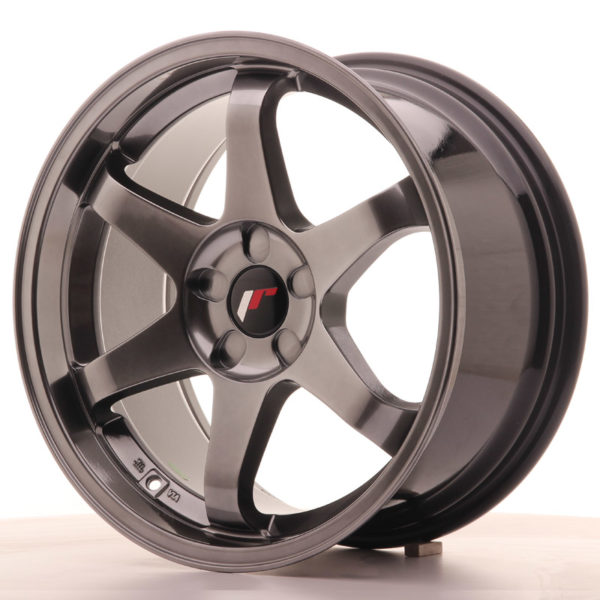 JR Wheels JR3 18x9 ET35-40 5H BLANK Dark Hyper Black