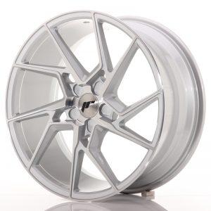 JR Wheels JR33 19x8,5 ET20-48 5H BLANK Silver Machined Face