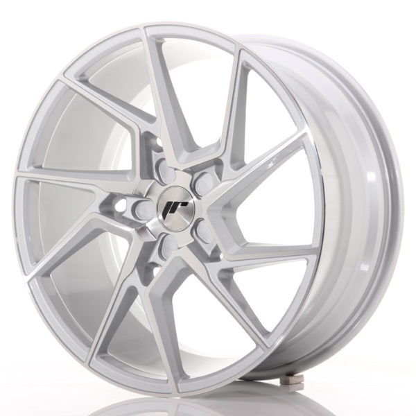 JR Wheels JR33 20x9 ET20-48 5H BLANK Silver Machined Face