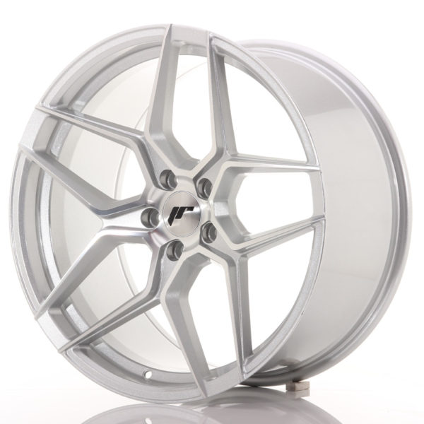 JR Wheels JR34 20x10 ET40 5x120 Silver Machined Face