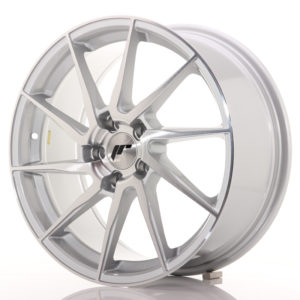 JR Wheels JR36 18x8 ET45 5x112 Silver Brushed Face