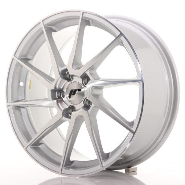 JR Wheels JR36 18x8 ET45 5x112 Silver Brushed Face