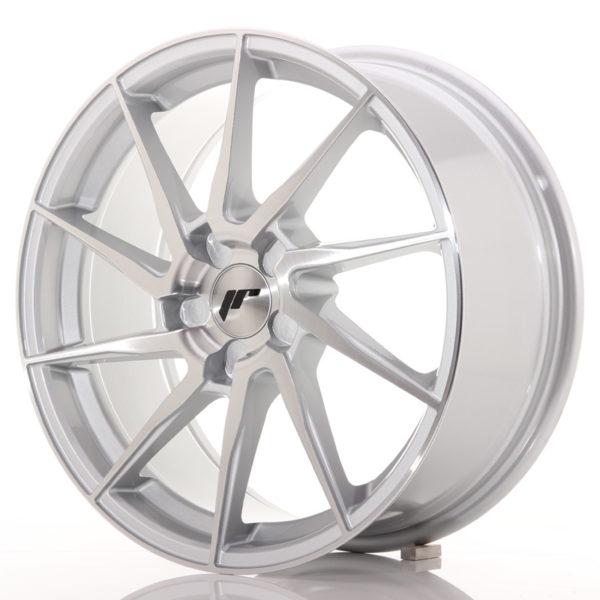 JR Wheels JR36 18x8 ET20-52 5H BLANK Silver Brushed Face