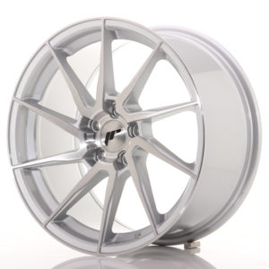 JR Wheels JR36 18x9 ET35 5x120 Silver Brushed Face