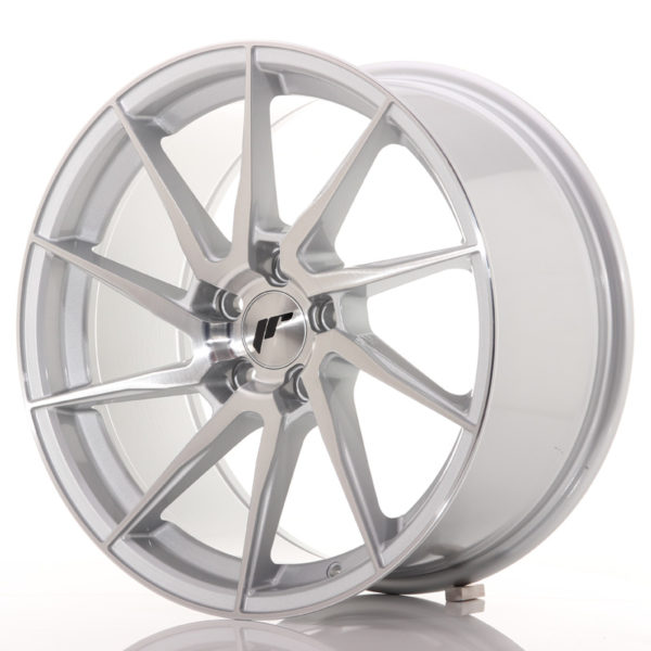 JR Wheels JR36 18x9 ET35 5x120 Silver Brushed Face