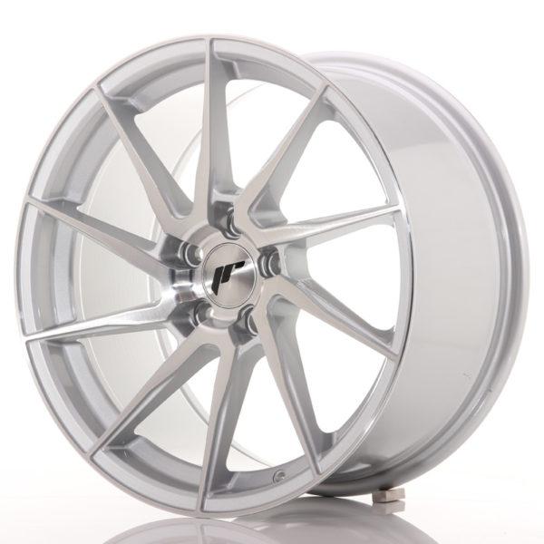 JR Wheels JR36 18x9 ET45 5x112 Silver Brushed Face