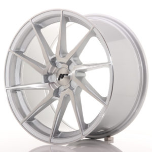 JR Wheels JR36 18x9 ET20-48 5H BLANK Silver Brushed Face