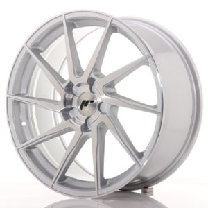 JR Wheels JR36 19x8,5 ET20-50 5H BLANK Silver Brushed Face