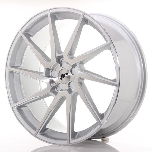 JR Wheels JR36 23x10 ET30-55 5H BLANK Silver Brushed Face