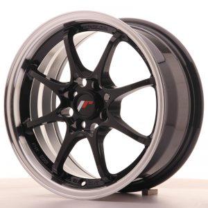 JR Wheels JR5 15x7 ET35 4x100 Gloss Black w/Machined Lip