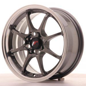 JR Wheels JR5 15x7 ET35 4x100 Gun Metal w/Machined Lip