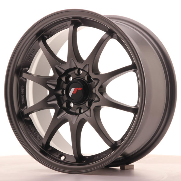 JR Wheels JR5 16x7 ET30 4x100/108 Matt Gun Metal