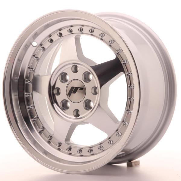 JR Wheels JR6 15x7 ET35 4x100/114 Silver Machined Face