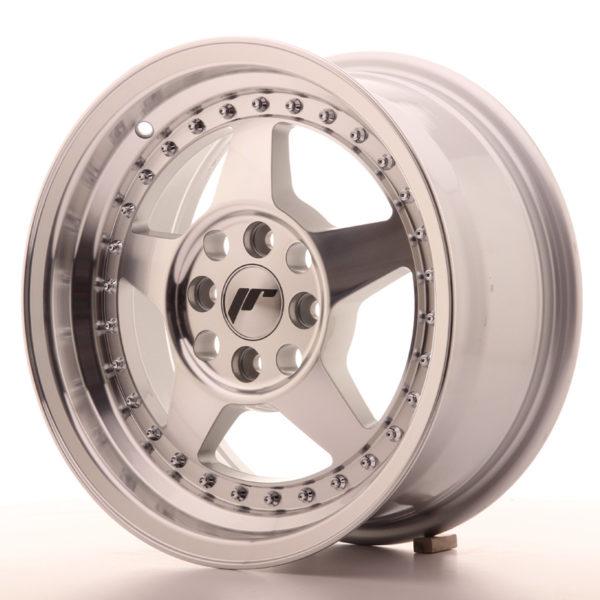 JR Wheels JR6 15x7 ET35 4x100 Silver Machined Face