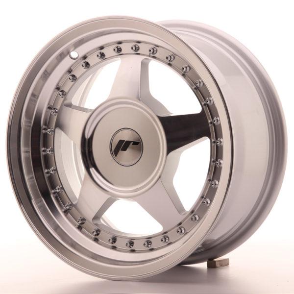 JR Wheels JR6 15x7 ET20-35 BLANK Silver Machined Face