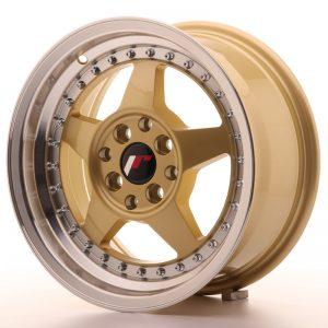 JR Wheels JR6 15x7 ET25 4x100/108 Gold w/Machined Lip