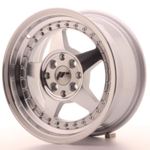 JR Wheels JR6 15x7 ET25 4x100/108 Silver Machined Face