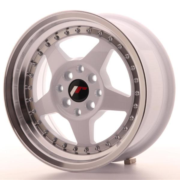 JR Wheels JR6 15x7 ET25 4x100/108 White w/Machined Lip