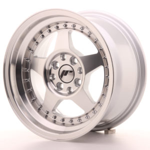 JR Wheels JR6 15x8 ET5 4x100/114 Silver Machined Face
